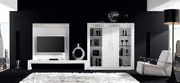 Living room TV furniture sofa carpet cabinet lamp