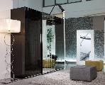 wardrobe cabinet carpet mirror lamp armchair