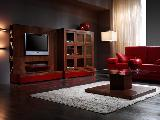 Living room coffee table sofa lamp TV furniture DVD player