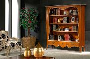 Living room books vase cabinet armchair