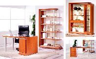 Office desk bookcase armchair
