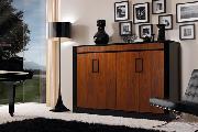 mueble zapatero silla piano lámpara cuadros