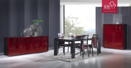 Dining Room furniture un wengê with lacquer sideboard