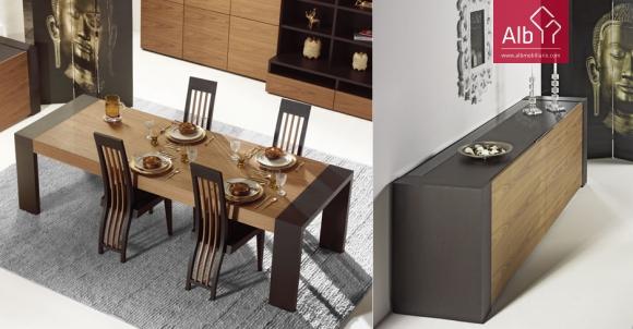 Muebles comedor modernos malaga alb mobili rio e for Muebles sala comedor
