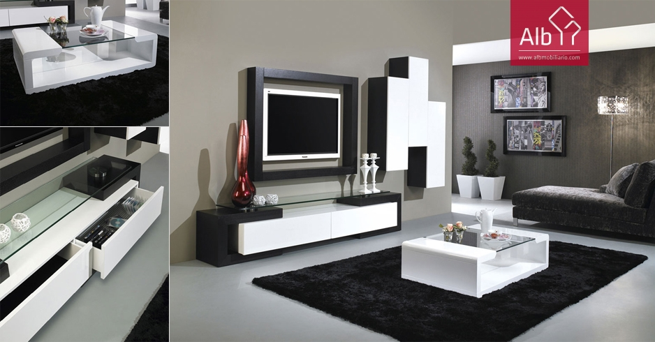 Furniture Tv In Oak Wenge Color Lacquered