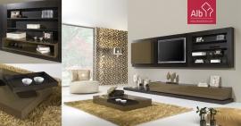 Sala de estar moderna Lacada a castanho mesa de centro lacada alto brilho