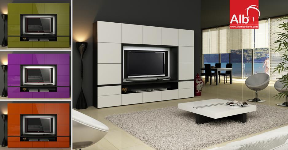 Mobiliario de design moderno muebles a medida alb for Muebles de salon lacados