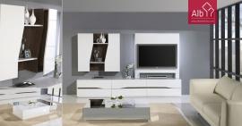 Sala de estar moderna Lacada a branco mesa de centro lacada alto brilho