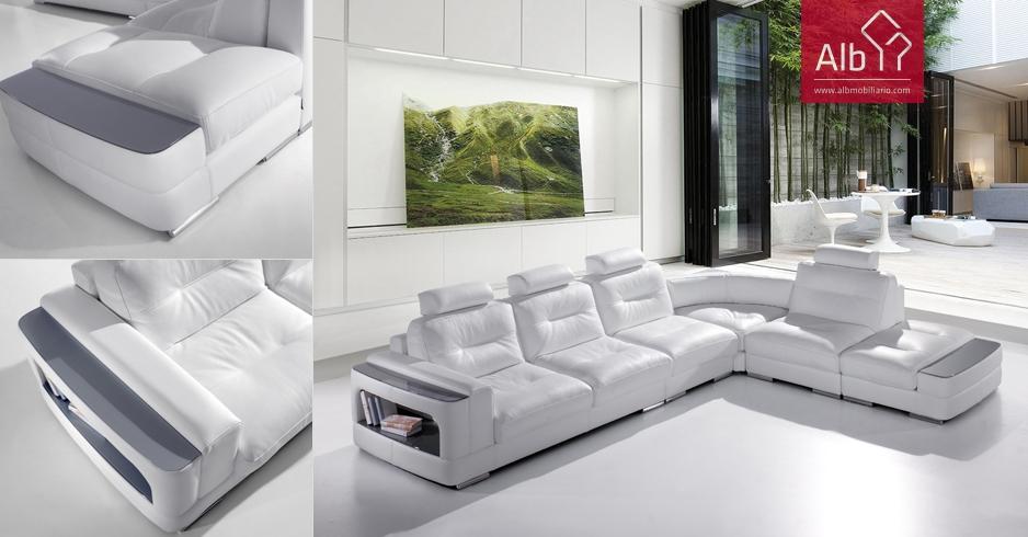 De dise o barato alb mobili rio e decora o pa os de ferreira capital do m vel - Sofa rinconera moderno ...