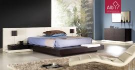 Dormitorio de Matrimonio  barato  Hecho de madera de wengué, con líneas limpias y elegantes