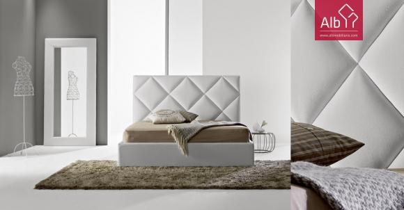 Loja Online de Móveis | cama estofada