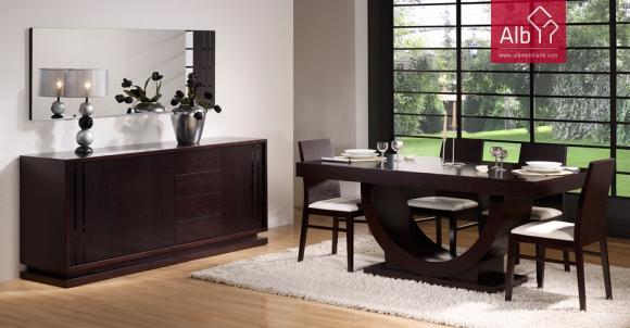 Paos de ferreira muebles salon saln comedor alb for Espejos de comedor modernos