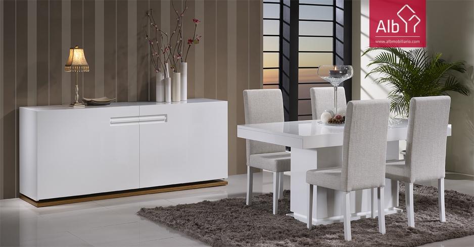 Moveis modernos para sala salon saln comedor alb for Muebles para sala comedor modernos