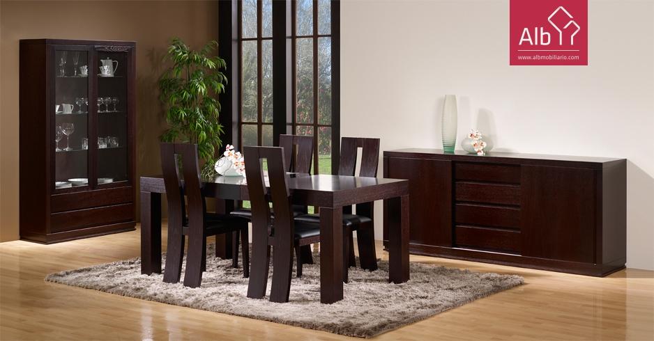 Aparador aparadores buffet comedor alb mobilirio e for Muebles modernos de madera para sala