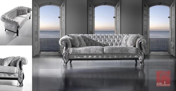 Sofa classico estilo chesterfield