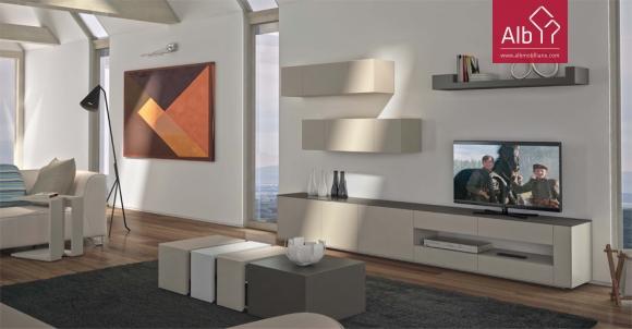 Sala estar moderna lacada