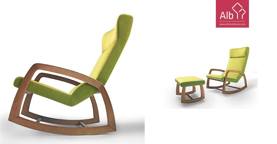 Mecedora de diseño vintage, sillón retro vintage - ALB Mobiliário e ...