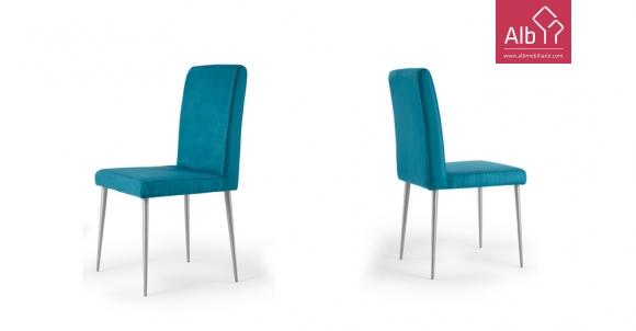 Cadeira Inox estofo tecido | Cadeiras modernas