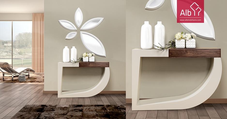 Muebles entraditas recibidor blancoroble cambrian cm barato entradas entraditas taquillones - Taquillones de entrada ...
