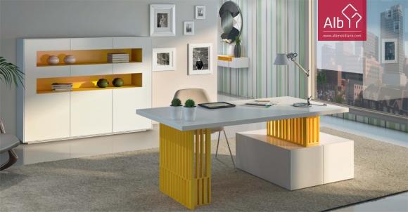 Moveis de escritorio modernos lacados alb mobilirio e for Mobiliario moderno