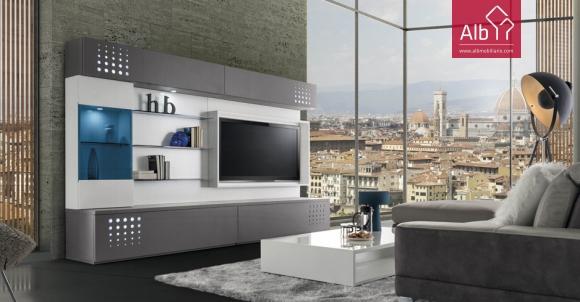 Mvel estante tv lacado moderno movel tv sintra alb for Estantes modernos
