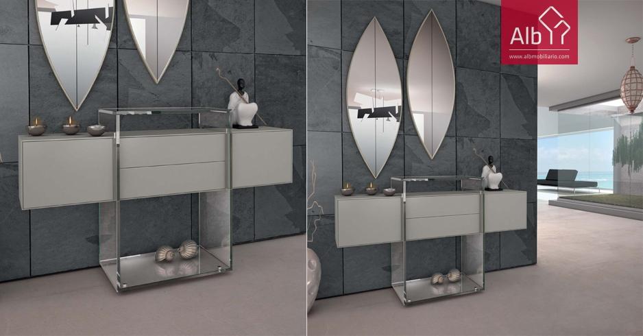 Entradas muebles modernos elegant recibidor recibidores - Taquillones de entrada ...