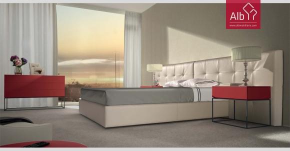 cama estofada design italiano