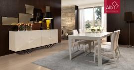 Moveis sala jantar modernos lacado alo brilho