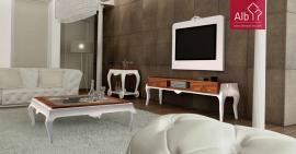 Sala estar moderna lacada | Sala estar clássica lacada