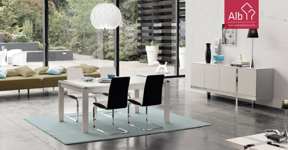 Contemporary Inox Lacquered Dining Room
