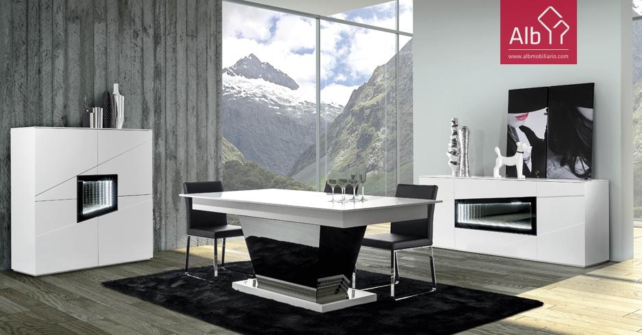 muebles comedor lacados con led muebles con led - Muebles Contemporaneos