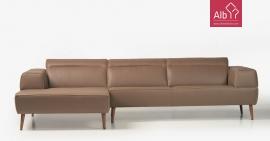 Sofa chaise longue pele | Sofas modernos | Sofas retro