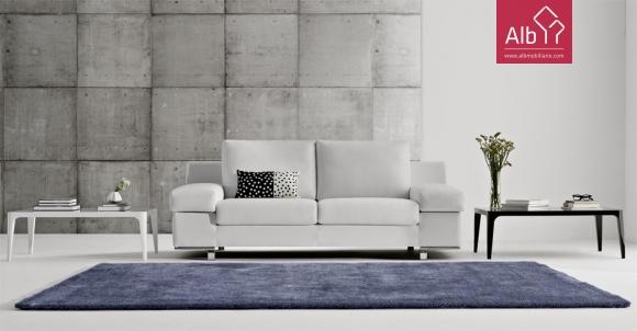 sofas modernos em pele albmobiliario