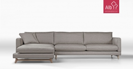 Sofa chaise longue tecido | Sofas modernos | Sofas retro | Sofá RTP1