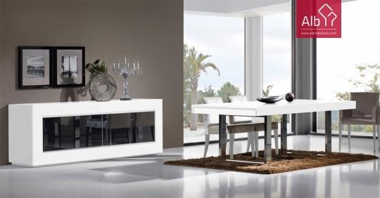 Mueble salon comedor lacado | Barcelona - ALB Mobiliário e Decoração ...
