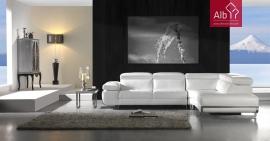 Loja Online de Móveis | Sofá de Canto com encosto reclinável