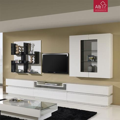 Estante moderna mobilirio moderno alb mobilirio e for Salas de television modernas