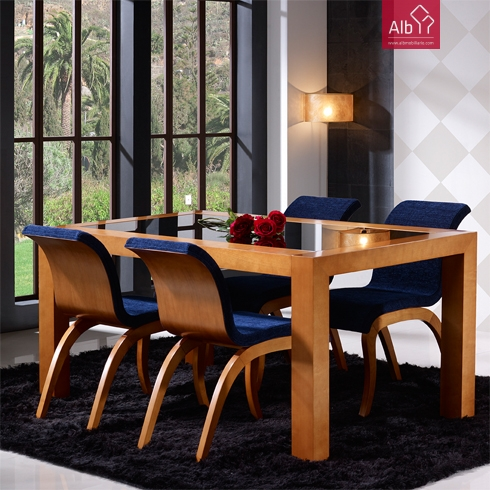 Moveis salas mesa para sala salas jantar mesa sala for Sillas tapizadas en tela modernas