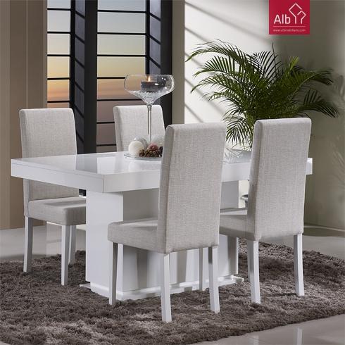 Moveis modernos para sala salon saln comedor alb for Comedor tapizado moderno