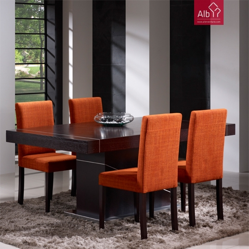 Moveis salas mesa para sala mobiliario barato alb for Sillas de comedor tapizadas modernas