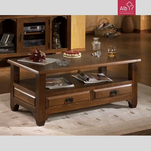 Mobiliario rustico de sala de estar alb mobilirio e for Sala de estar de madera