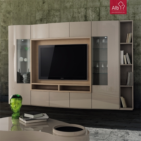 estante de tv sala estar moderna lacada composition design meuble tv alb mobili rio e. Black Bedroom Furniture Sets. Home Design Ideas