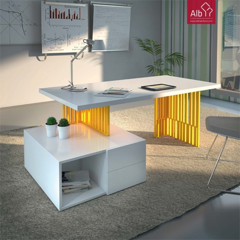 Mesa escritorio moderna songmics escritorio de la - Mesa escritorio moderna ...